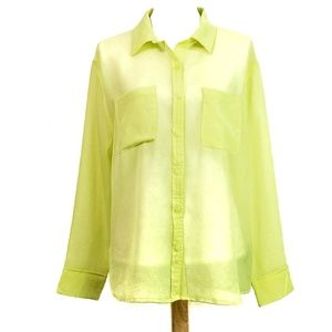 Mossimo Sheer Textured Button Down Blouse